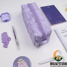 筆袋日系可愛少女大容量簡約創意文具盒【創世紀生活館】
