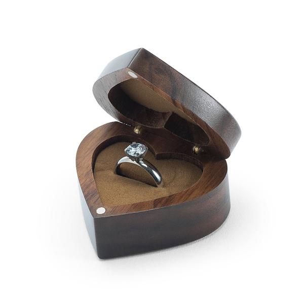 求婚戒指盒結婚單戒婚禮實木首飾收納盒小號複古便攜式隨身