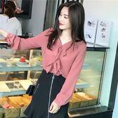 新款韓版超仙荷葉邊洋氣小衫