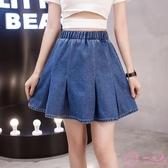2020夏季新款牛仔短裙女韓版胖妹妹200斤大尺碼高腰半身裙