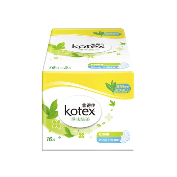 靠得住純白体驗淨味綠茶日用超薄23cm 16片2包