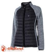 【Wildland 荒野 女款 RE羽絨拼接保暖外套《黑》】52993/防潑水/天鵝絨/防風★滿額送