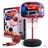 兒童落地式籃球架可升降投籃框家用室內xw
