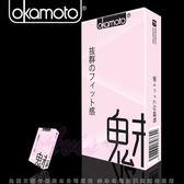 情趣用品-保險套商品買送潤滑液♥女帝♥ Okamoto岡本-City-Fit緊魅型保險套10入裝衛生套