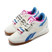 Reebok 訓練鞋 Legacy Lifter II 米白 藍 女鞋 舉重鞋 CrossFIT 健身專用 【ACS】 FW8477