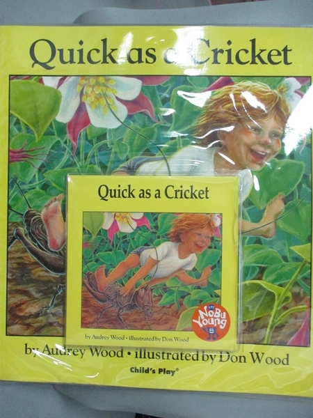 【書寶二手書T1/少年童書_XDT】Quick as a Cricket_附光碟_Wood