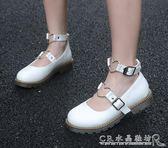 日系娃娃鞋小皮鞋女牛筋底軟妹洛麗塔學生淺口單鞋『CR水晶鞋坊』