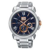 SEIKO Premier 新廣告款人動電能自動追時萬年曆腕錶   7D56-0AE0A (SNP153J1)藍面