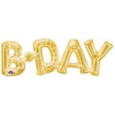 66*22cm金色字母鋁箔氣球(不含氣)-BDAY