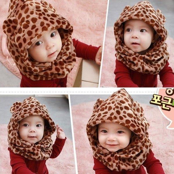 *甜蜜蜜親子童裝*百搭《可愛動物紋》圍巾帽~圍脖帽