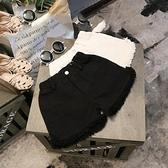 女童牛仔短褲 童裝夏新款純色正韓褲子女童休閒白色牛仔褲兒童黑色短褲寶寶熱褲-Ballet朵朵