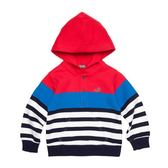 『小鱷魚童裝』條紋配色連帽T恤(02號~08號)338405