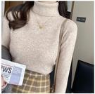堆堆領打底衫女秋冬2020年新款針織內搭羊毛白色高領毛衣加厚上衣 童趣潮品