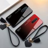 Realme X2 Pro 手機殼 玻璃鏡面防摔保護套 漸變時尚 個性簡約男女款 全包手機套 保護殼