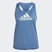 Adidas AEROREADY 女裝 背心 訓練 健身 吸濕排汗 工字背 藍【運動世界】GL3841