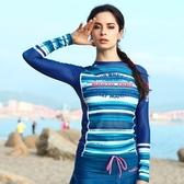 長袖潛水衣 套裝-速乾排汗沙灘防曬女水母衣73mg14【時尚巴黎】