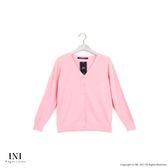 【INI】超值舒適、V領織紋質感針織外套.粉色