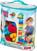 MEGA BLOKS 美高 80片積木袋(藍) TOYeGO 玩具e哥