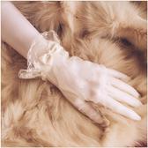 韓式簡約春季優雅短款婚禮結婚手套 全館免運