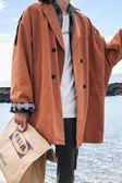 新款男士秋季中長款風衣夾克外套男寬鬆韓版秋裝潮流大衣春秋 科炫數位旗艦店