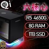 【南紡購物中心】華碩A1系列【mini天立星】AMD R5 4650G六核 小型電腦(8G/1T SSD)《A1 PLUS》
