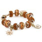 時尚鑲鉆珠水晶吊墜手鏈 創意民族風串珠手環s60