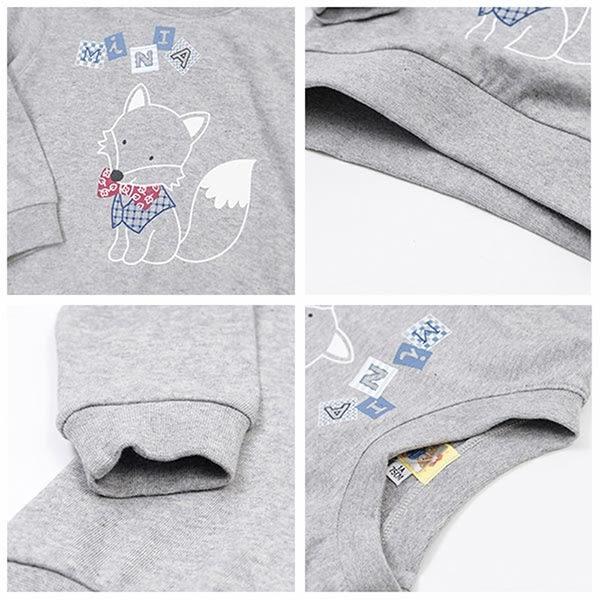 【愛的世界】純棉圓領小狐狸薄長袖上衣/1~2歲-台灣製- ★秋冬上著