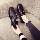 新款皮鞋春百搭學生韓版低跟單鞋社會休閒豆豆鞋黑色工作鞋女鞋 快速出貨