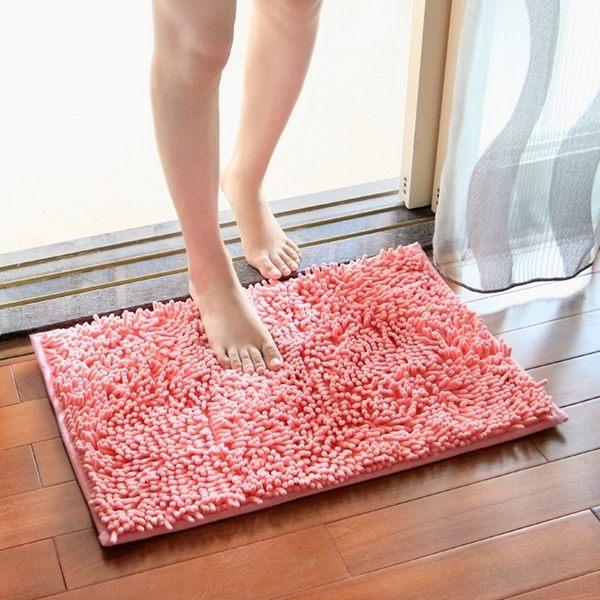 [拉拉百貨] 雪尼爾長毛吸水墊 超細纖維吸水地墊 腳踏墊 止滑 浴室門墊 吸水地毯