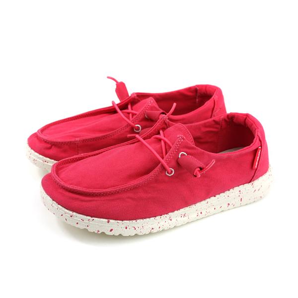 Hey Dude 休閒鞋 帆船鞋 帆布 女鞋 紅色 HD2001-804 no007