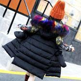 雙十二狂歡 女童棉衣2018新款冬季韓版外套大毛領棉襖中長款兒童加厚寶寶棉服 挪威森林