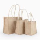 手提包 黃麻單肩棉麻布包 麻布購物袋 亞麻袋麻布手提麻布手拎袋 訂做  快速出貨