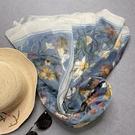 艾米家旅游披肩防曬絲巾女雪紡送專用絲巾扣 陽光好物