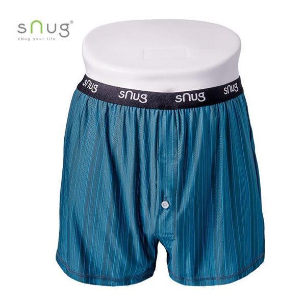 Snug 四角褲 平口內褲 男 藍色 寬腰帶 舒適 涼感機能 透氣輕薄 吸濕 除臭 頂級竹炭纖維 K003B