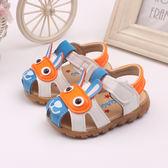夏季新兒童0-1-2-3歲 正韓男寶寶男童嬰兒學步涼鞋三角衣櫥