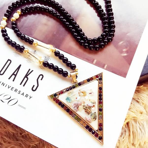 彩貝 貓眼石 長款 韓國 毛衣鏈 配飾 吊墜 韓國 裝飾 項鍊
