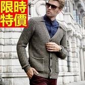 男款外套毛衣美麗諾羊毛-大方秋冬保暖復古男開襟針織衫64k3【巴黎精品】