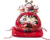 【金石工坊】福財必達達摩(高20CM)招財貓 陶瓷開運風水擺飾 開店送禮 開業禮品 撲滿存錢筒