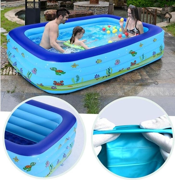兒童游泳池家用大人充氣加厚小孩戲水池超大嬰幼兒室內家庭游泳桶YYJ