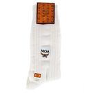 MCM 直條紋刺繡LOGO紳士襪(白色)980206