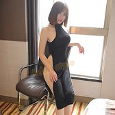 誘愛女爵高腰開叉性感旗袍(黑)-彩虹情趣用品【全館86折】