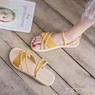 一鞋兩穿女涼鞋2020年新款仙女風平底網紅時尚超火百搭夏天涼拖鞋 米娜小鋪