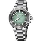 ORIS 豪利時 Aquis 時間之海潛水300米日期機械錶-薄荷綠x銀/39.5mm 0173377324137-0782105PEB