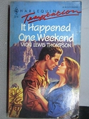 【書寶二手書T6/原文小說_C4Z】It Happened One Weekend_Vicki Lewis Thompson