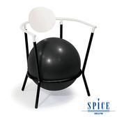 【日本 SPICE 】 多功能 碳黑白 瑜珈平衡球 時尚手扶椅