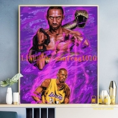 數字油畫diy手工填色減壓油彩畫NBA球星裝飾畫【輕奢時代】