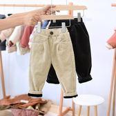 寶寶加絨加厚棉褲子2歲嬰幼兒童冬季燈芯絨pp褲【奈良優品】