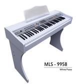 【奇歌】音色試聽。象牙白木紋 61鍵 電鋼琴►非電子琴音 麥克風、MP3輸出 手捲鋼琴