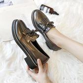 平底黑色樂福鞋 小皮鞋女英倫風2019秋季新款韓版百搭學院單鞋 BF22316『寶貝兒童裝』