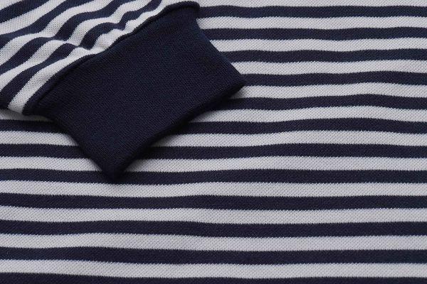 【Emilio Valentino】保暖經典橫條紋POLO衫 - 藍